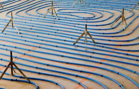 Plancher chauffant à eau Technisol Chape Fluide
